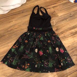 💕3/$30 Pink Mini Dress XS Floral Skirt Tank Dress